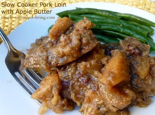 Crock pot Pork Loin with Apple Butter