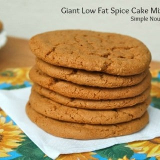 Giant Low Fat Spice Cake Mix Cookies