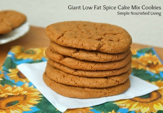 Homemade Giant Low-Fat Spice Cake Mix Cookies