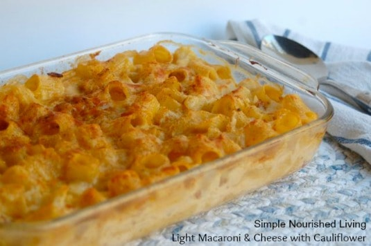 Light Macaroni and Cheese with Cauliflower