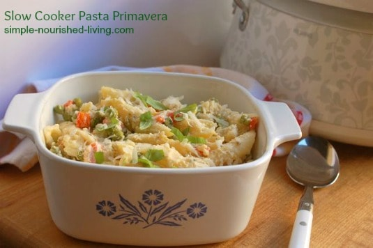 Slow Cooker Pasta Primavera - 8 Weight Watchers Freestyle SmartPoints