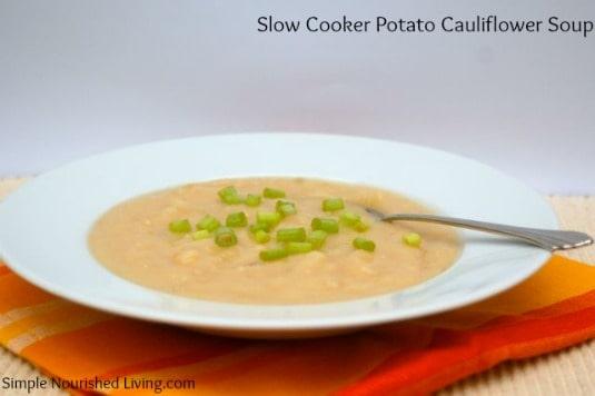 Slow Cooker Low Calorie Cauliflower Potato Soup Recipe