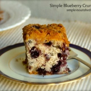 Simple Blueberry Crumb Cake Recipe