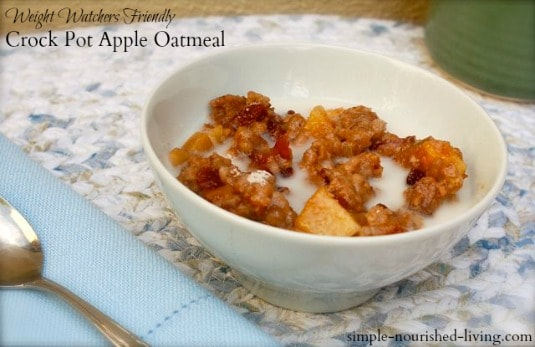 Crock Pot Apple Oatmeal Made Lighter for Weight Watchers