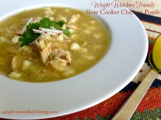 Slow Cooker Chicken Posole Soup