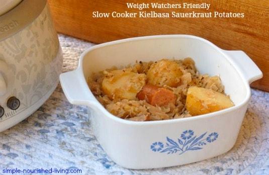 Slow Cooker Kielbasa Sauerkraut Potatoes