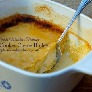 light creme brulee made in the crock pot
