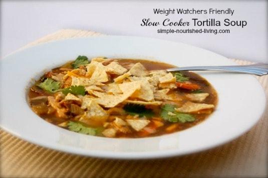 Crock Pot Chicken Tortilla Soup with Black Beans | Weight ...