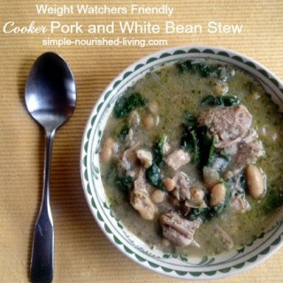 Italian Slow Cooker Pork and White Beans Stew – 7 SmartPoints