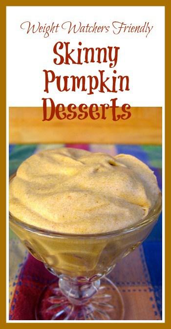 Skinny Pumpkin Desserts