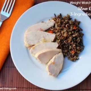 Slow Cooker 3 Ingredient Chicken