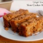 Weight Watchers Friendly Slow Cooker Apple Cake