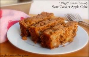 Slow Cooker Apple Cake favorite crock pot recipes