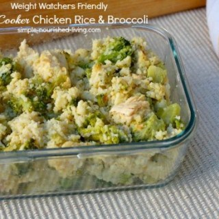 Low Calorie Slow Cooker Chicken Rice and Broccoli