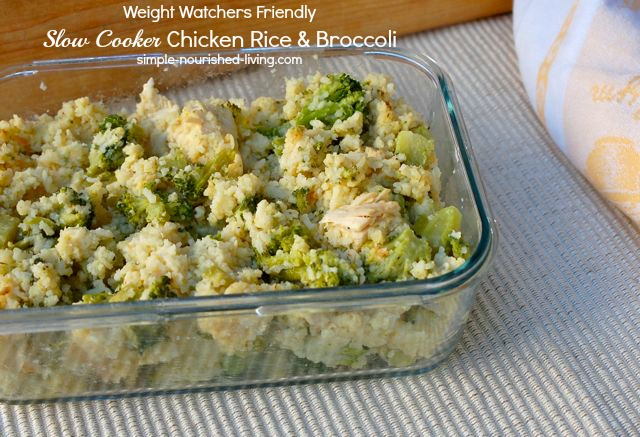 recipe: slow cooker chicken broccoli rice casserole [5]