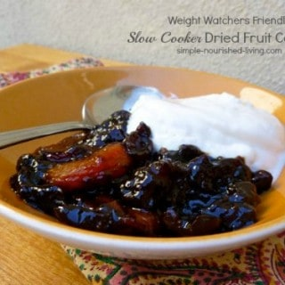 Slow Cooker Dried Fruit Compote with Greek Yogurt