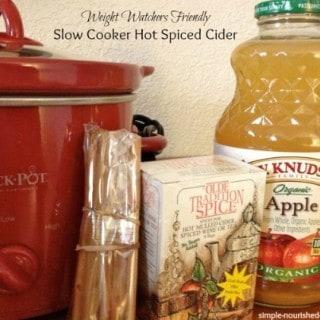 Slow Cooker Hot Spiced Cider Ingredients