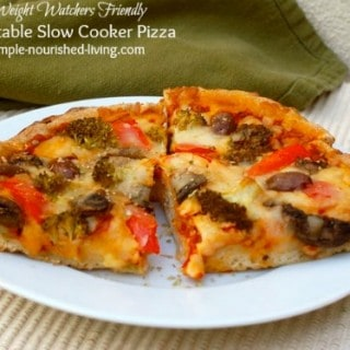 Vegetable Crock Pot Pizza