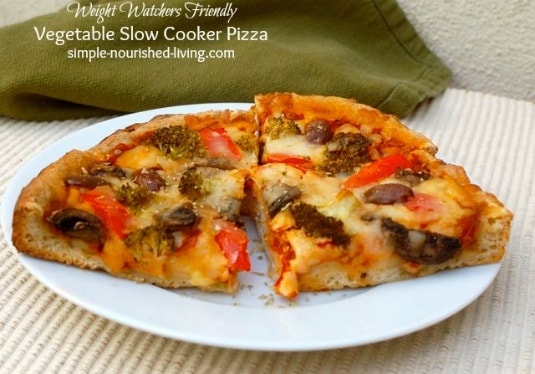 Vegetable Crock Pot Pizza - 6 Weight Watchers Freestyle SmartPoints