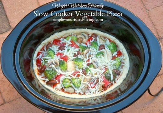 Vegetable Crock Pot Pizza 6 Weight Watchers Freestyle