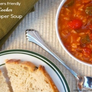 Slow Cooker Stuffed Pepper Soup – 4 WW Freestyle SmartPoints