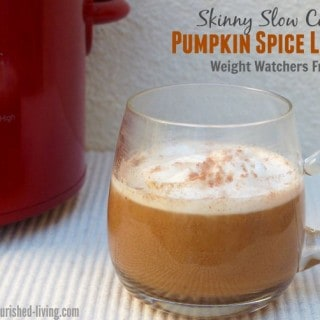 Skinny Slow Cooker Pumpkin Spice Latte