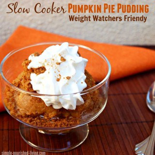 Slow Cooker Pumpkin Pie Pudding Weight Watchers Points Plus Value 5