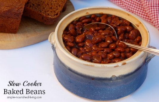 Slow Cooker Baked Beans | Weight Watchers Friendly Recipes