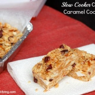 Cranberry Caramel Slow Cooker Cookie Bars