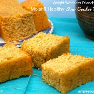 Moist Healthy Slow Cooker Cornbread for Weight Watchers
