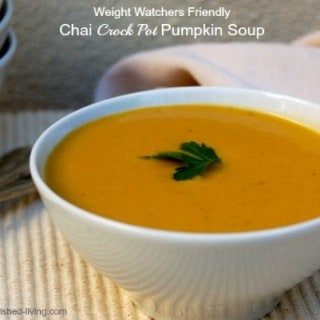 Weight Watchers Friendly Crock Pot Chai Pumpkin Soup