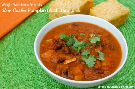 Slow Cooker Pumpkin Black Bean Chili