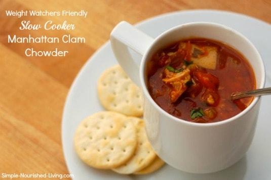 Slow Cooker Manhattan Clam Chowder