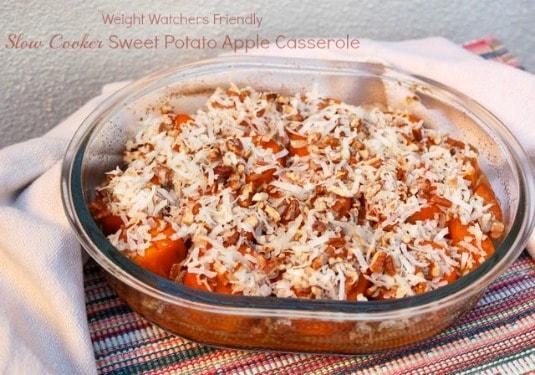 Slow Cooker Sweet Potato Apple Casserole