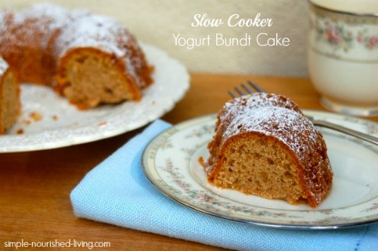 Slow Cooker Yogurt Bundt Cake
