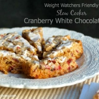Cranberry Slow Cooker Cookie Bars