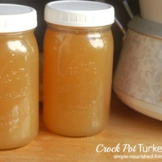 Homemade Crock Pot Turkey Bone Broth