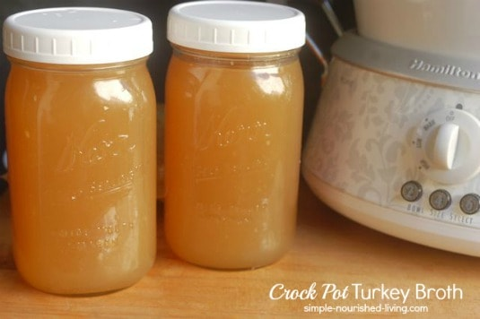 Crock Pot Turkey Broth