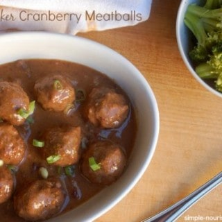 Slow Cooker Cranberry Meatballs