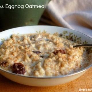 Slow Cooker Eggnog Oatmeal