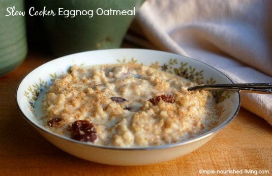 Slow Cooker Eggnog Oatmeal for Weight Watchers