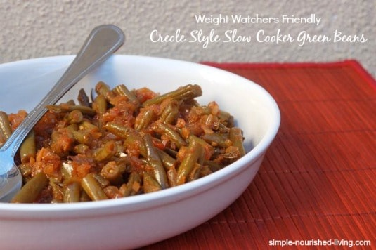Creole Style Slow Cooker Green Beans