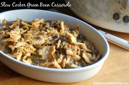 Slow Cooker Green Bean Casserole