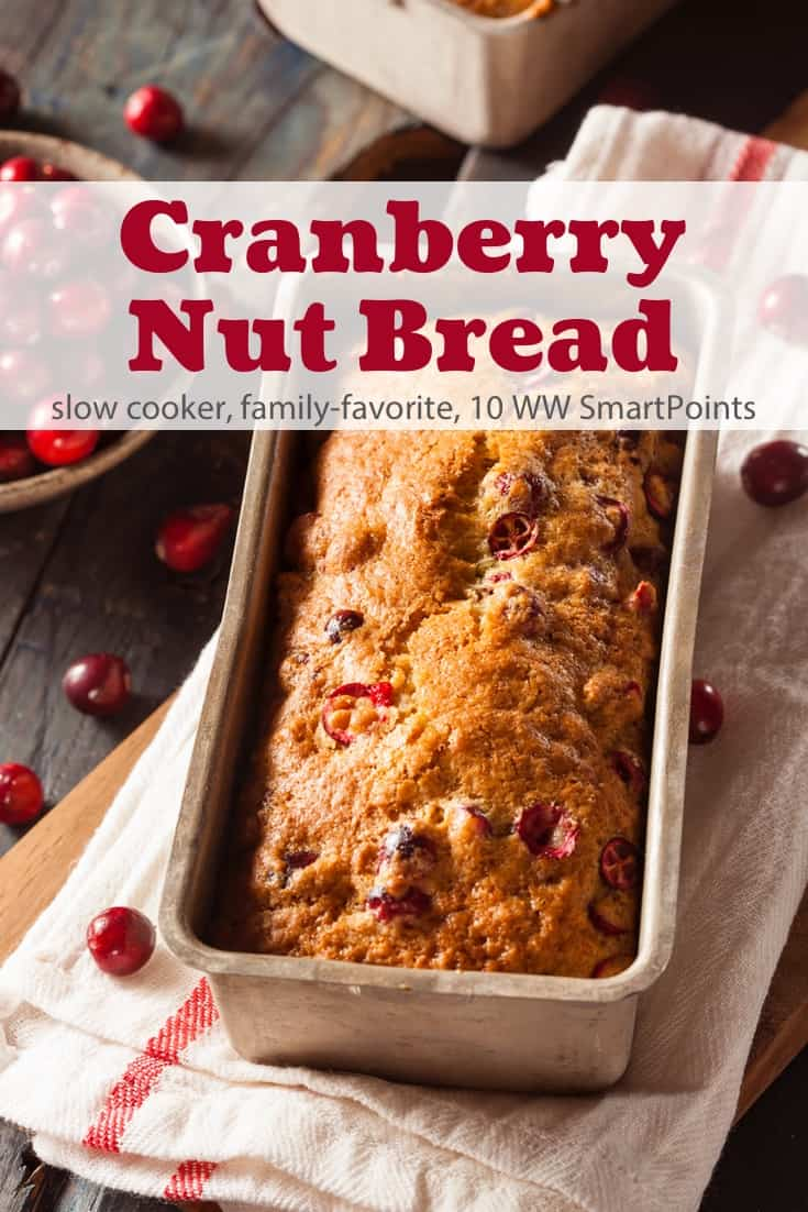 This easy cranberry nut bread is a perfect way to use up leftover cranberry sauce and a breeze to make in the slow cooker! #slowcookercranberrynutbread #cranberries