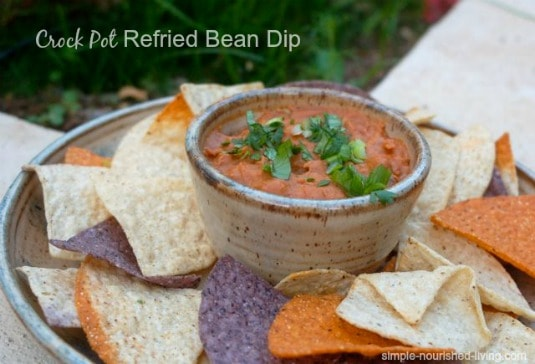 Slow Cooker Refried Bean Dip
