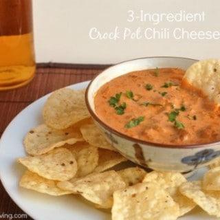 3-Ingredient Crock Pot Chili Cheese Dip