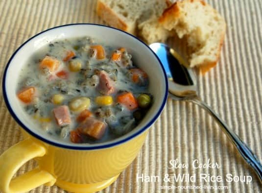 Slow Cooker Ham and Wild Rice Soup Recipe | Simple Nourished