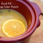 Crock Pot Apple Cider with Orange Juice