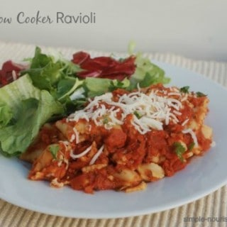 Easy Slow Cooker Ravioli
