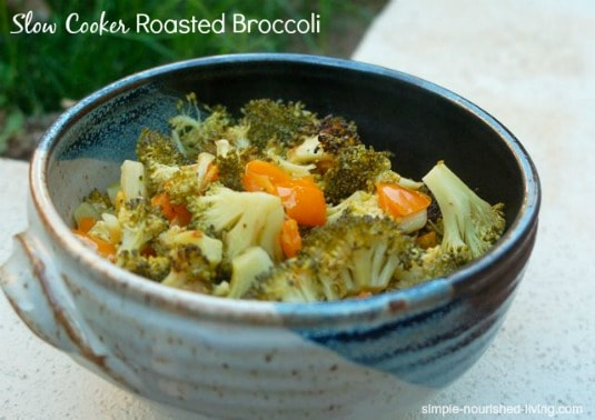 Crock Pot Roasted Broccoli